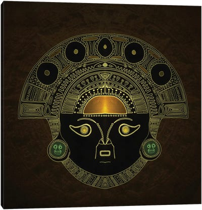 Inti (Sun God Mask) Canvas Art Print