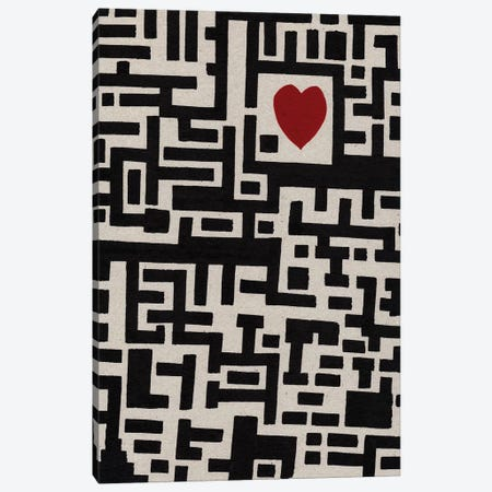 Lover Labyrinth Canvas Print #BRF38} by Barruf Canvas Art