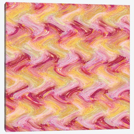 Mandarin & Pink Pattern Canvas Print #BRF39} by Barruf Canvas Wall Art