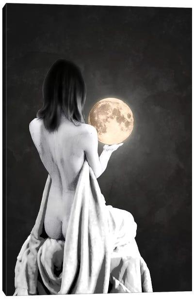 Moon Contemplation Canvas Art Print
