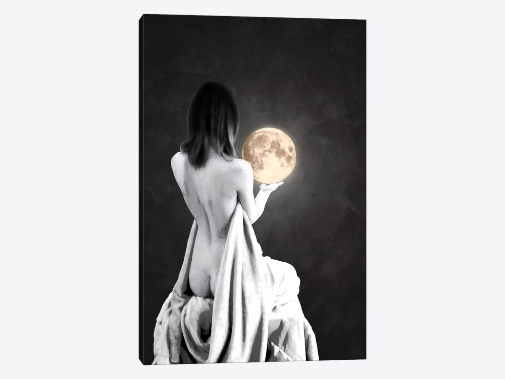 Moon Contemplation by Barruf 1-piece Canvas Art