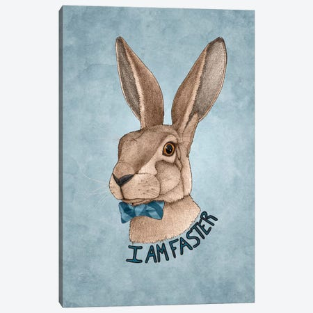 Mr. Hare Is Faster Canvas Print #BRF43} by Barruf Canvas Print
