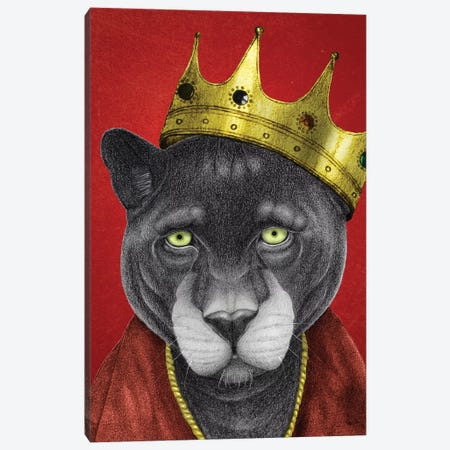 Panther King Canvas Print #BRF49} by Barruf Canvas Print