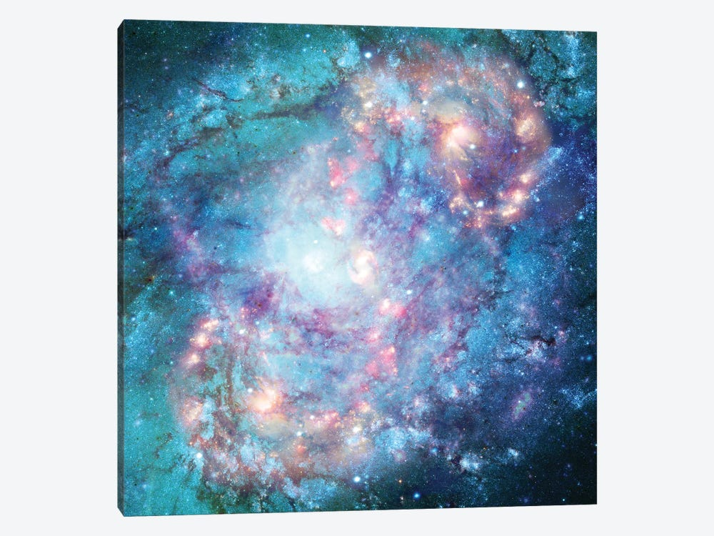Abstract Galaxy by Barruf 1-piece Canvas Print