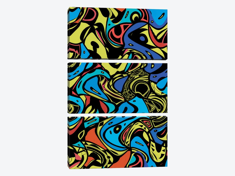 Psychedelic Renaissance I by Barruf 3-piece Canvas Art Print