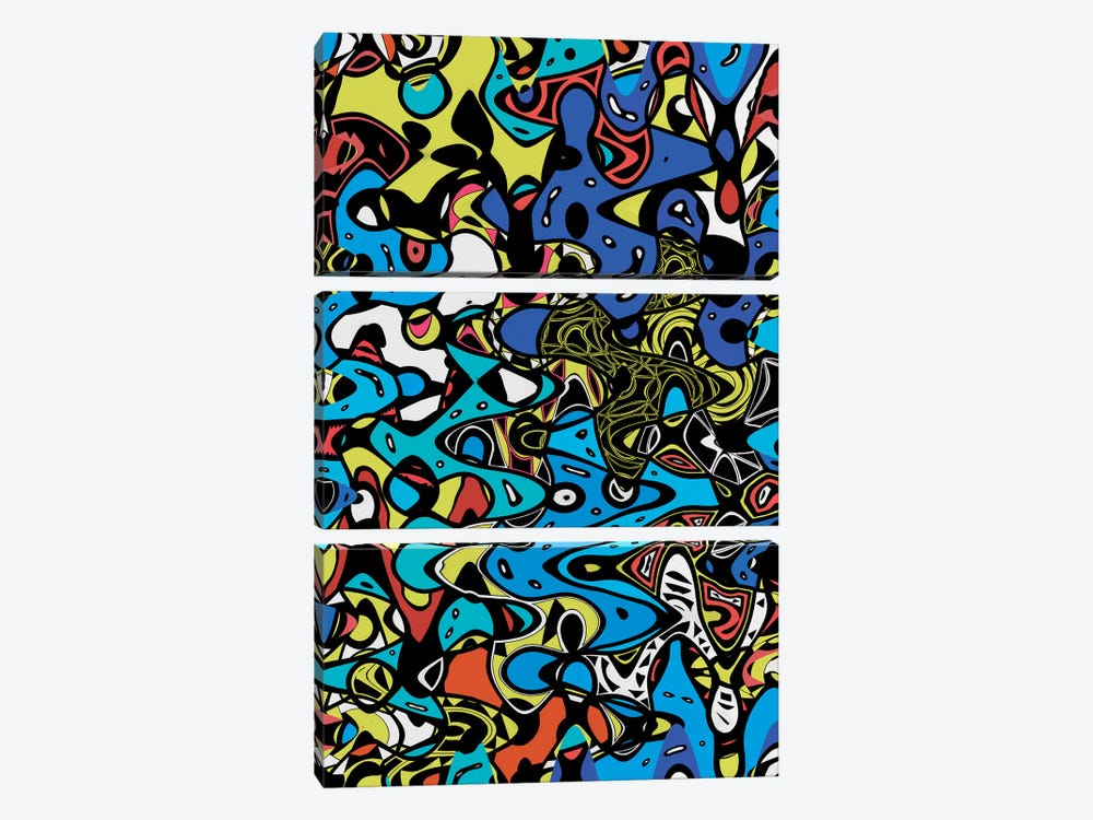 Psychedelic Renaissance II by Barruf 3-piece Canvas Art