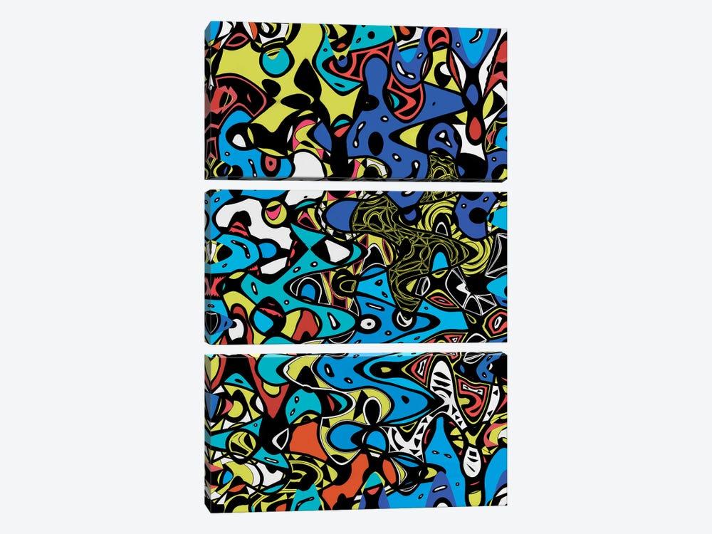 Psychedelic Renaissance II by Barruf 3-piece Canvas Art