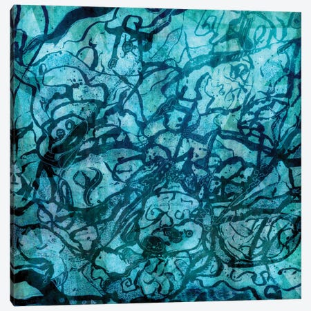 Revision Of My Blue Inner World Canvas Print #BRF53} by Barruf Canvas Artwork