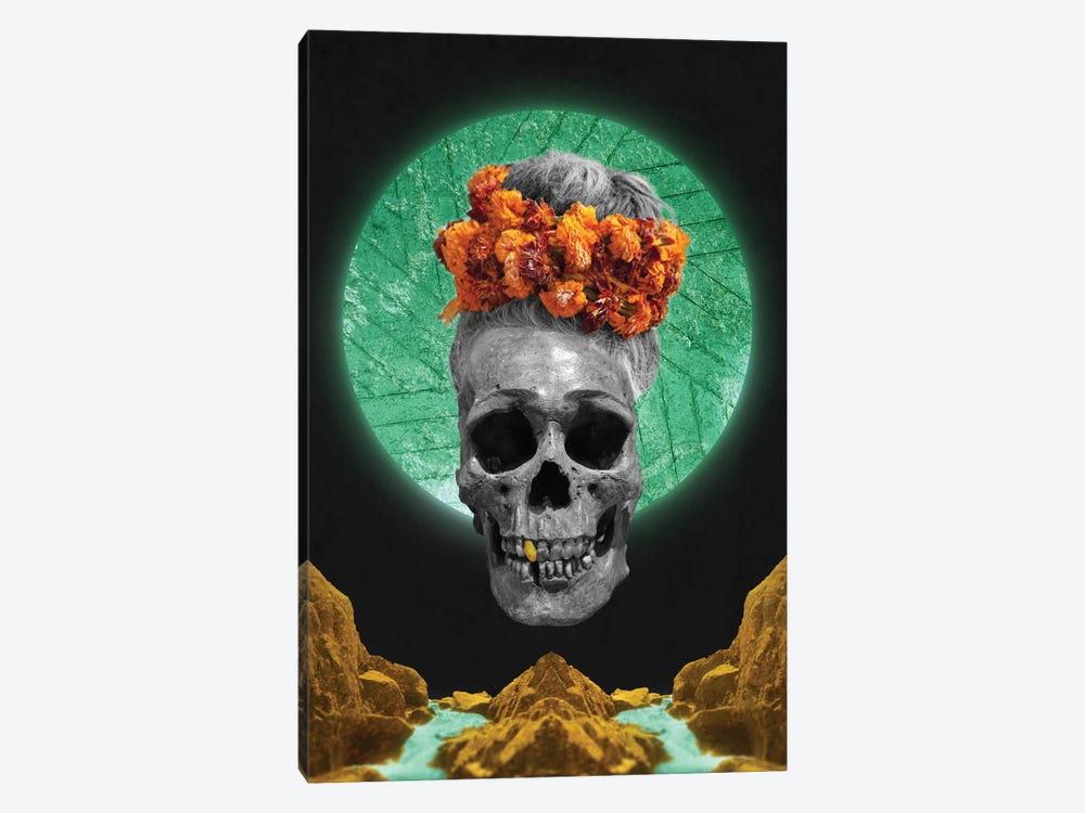 Skull Espiritual by Barruf 1-piece Canvas Art