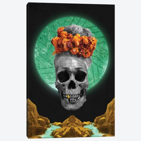 Skull Espiritual Canvas Print #BRF57} by Barruf Canvas Art Print