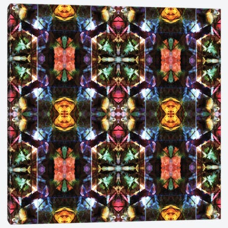 Stained Glass Window Pattern Canvas Print #BRF59} by Barruf Canvas Artwork