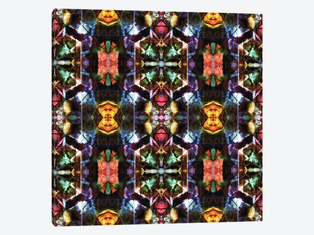 Stained Glass Window Pattern by Barruf 1-piece Canvas Wall Art