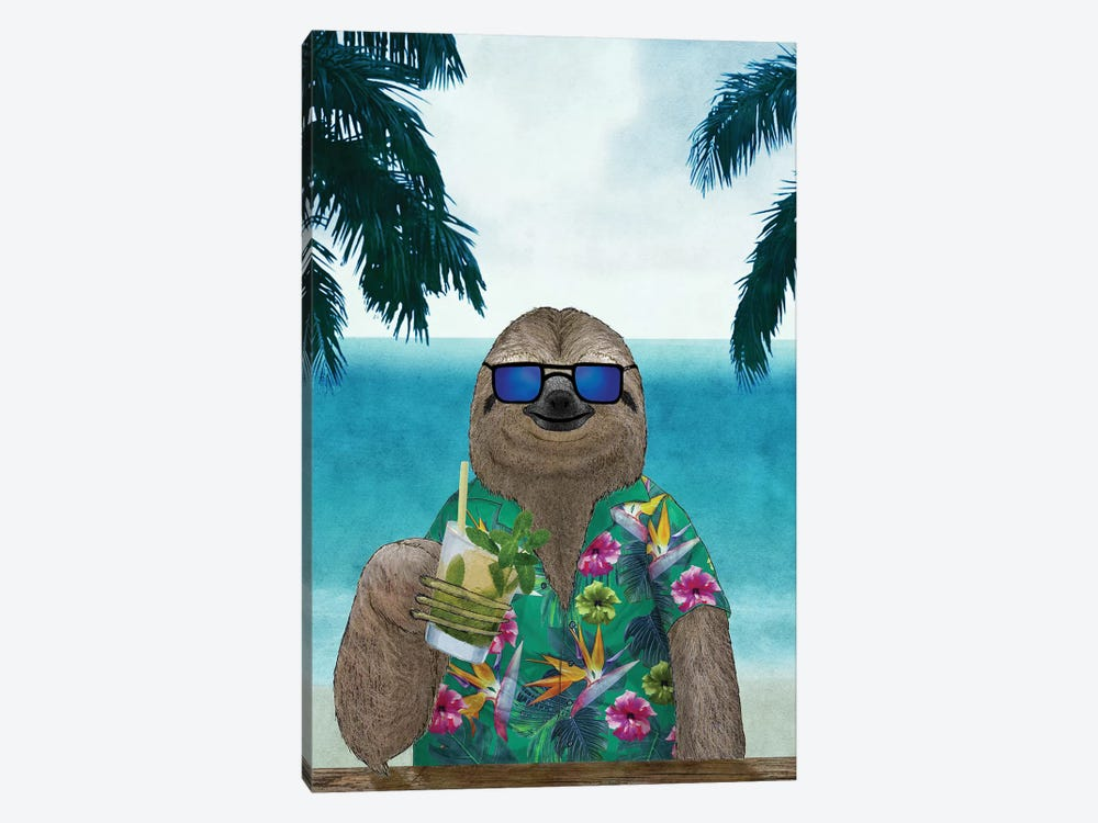 Summer Sloth by Barruf 1-piece Canvas Art