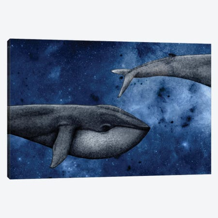 The Whale Who Met Itself Canvas Print #BRF65} by Barruf Canvas Wall Art