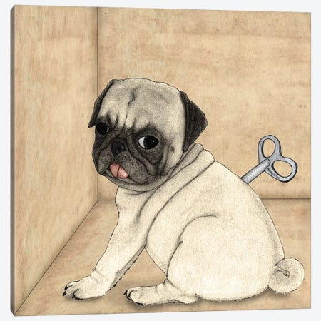 Toy Dog Canvas Print #BRF67} by Barruf Canvas Wall Art