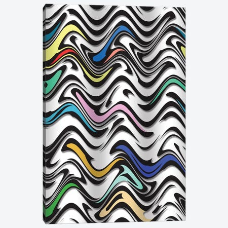 Trippy Wave In  An Urban Abstract Canvas Print #BRF71} by Barruf Canvas Art