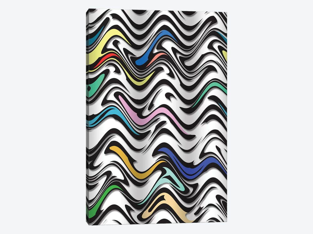 Trippy Wave In  An Urban Abstract by Barruf 1-piece Canvas Artwork
