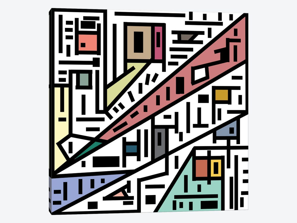 Urban Connections Of Vanity by Barruf 1-piece Canvas Artwork