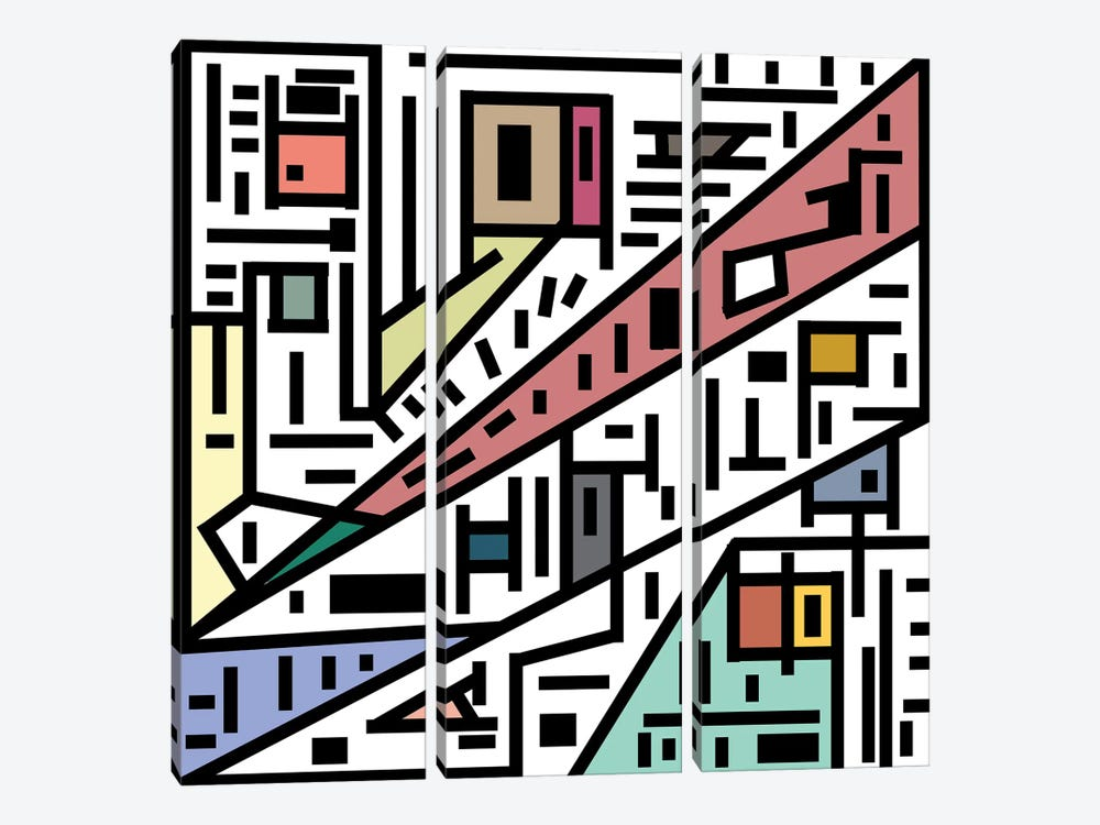 Urban Connections Of Vanity by Barruf 3-piece Canvas Art