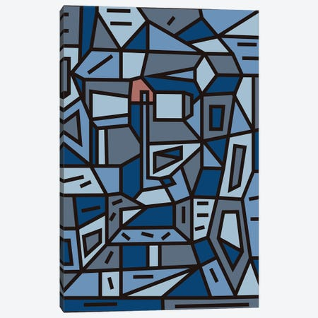 Urban Ego Study Canvas Print #BRF76} by Barruf Art Print