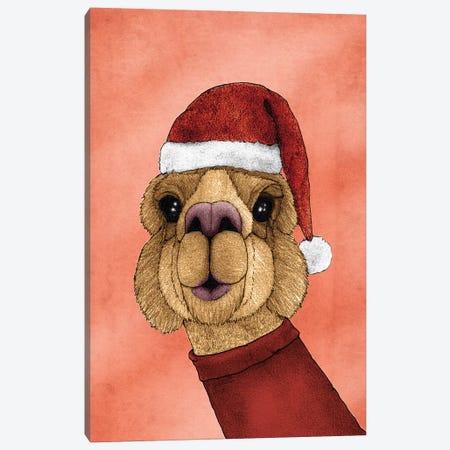 Christmas Alpaca Canvas Print #BRF7} by Barruf Canvas Art Print