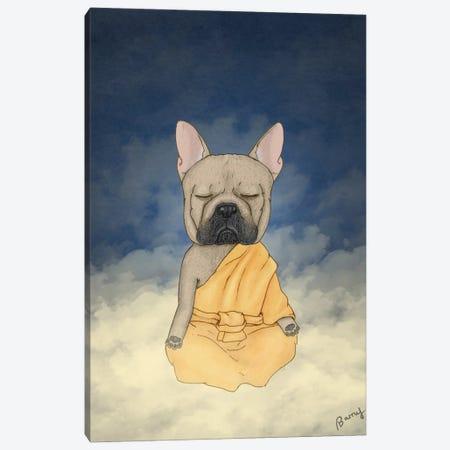 Frenchie Meditation Canvas Print #BRF83} by Barruf Art Print