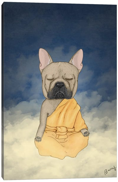 Frenchie Meditation Canvas Art Print