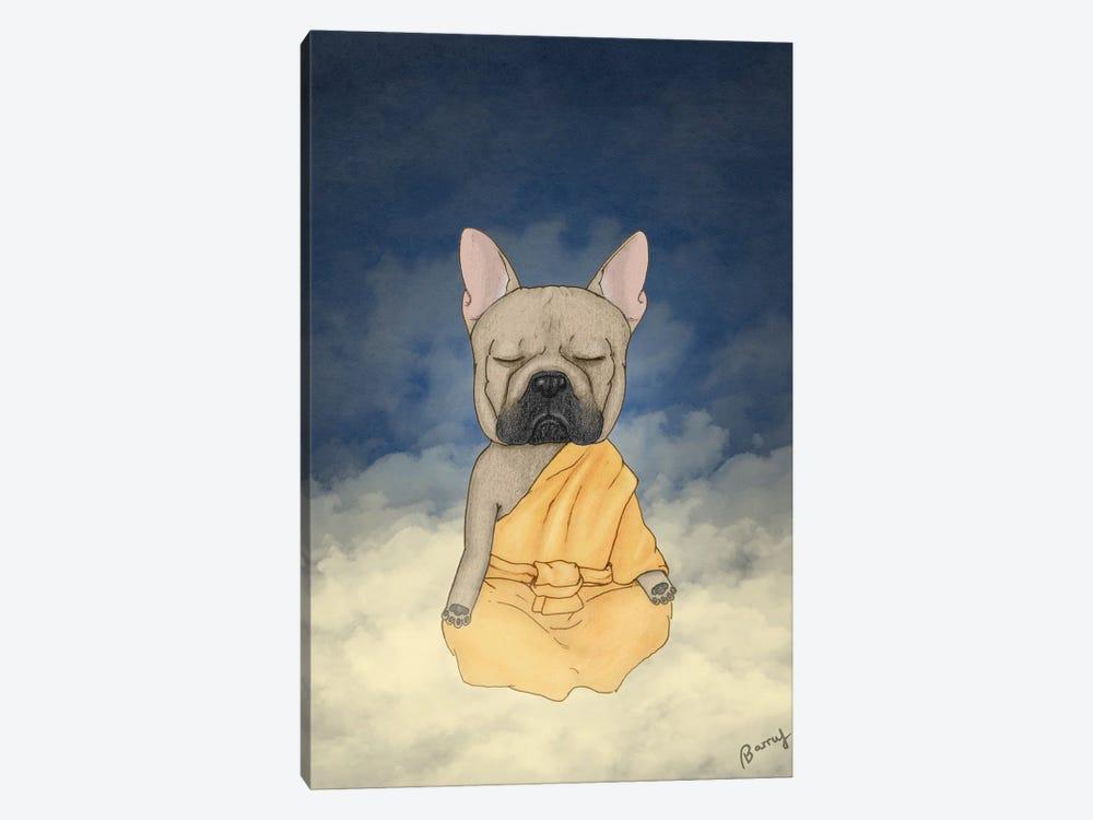 Frenchie Meditation by Barruf 1-piece Art Print