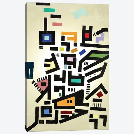 Colorful Urban Disorganization Canvas Print #BRF9} by Barruf Canvas Artwork