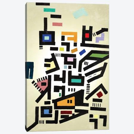 Colorful Urban Disorganization 3-Piece Canvas #BRF9} by Barruf Canvas Artwork