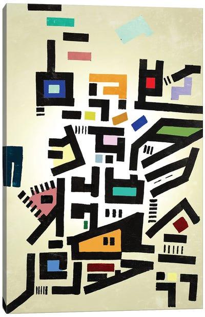 Colorful Urban Disorganization Canvas Art Print