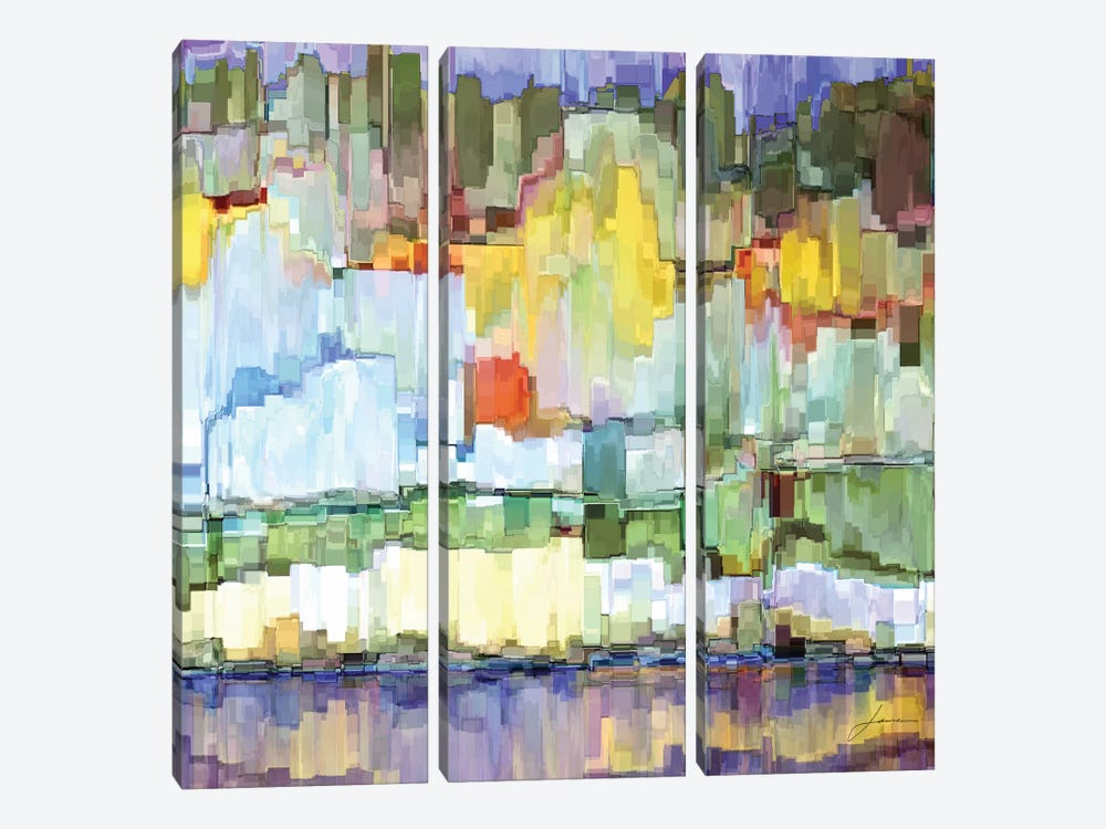 Glacier Bay IV by James Burghardt 3-piece Canvas Art