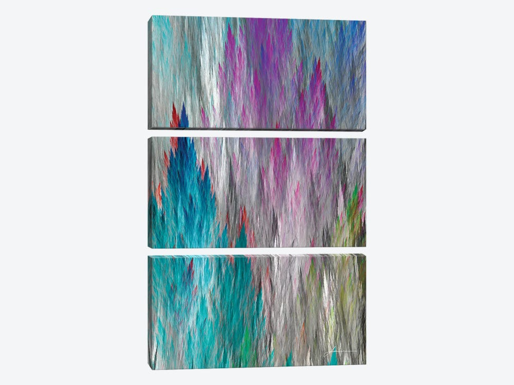 Brush Panels I 3-piece Canvas Print