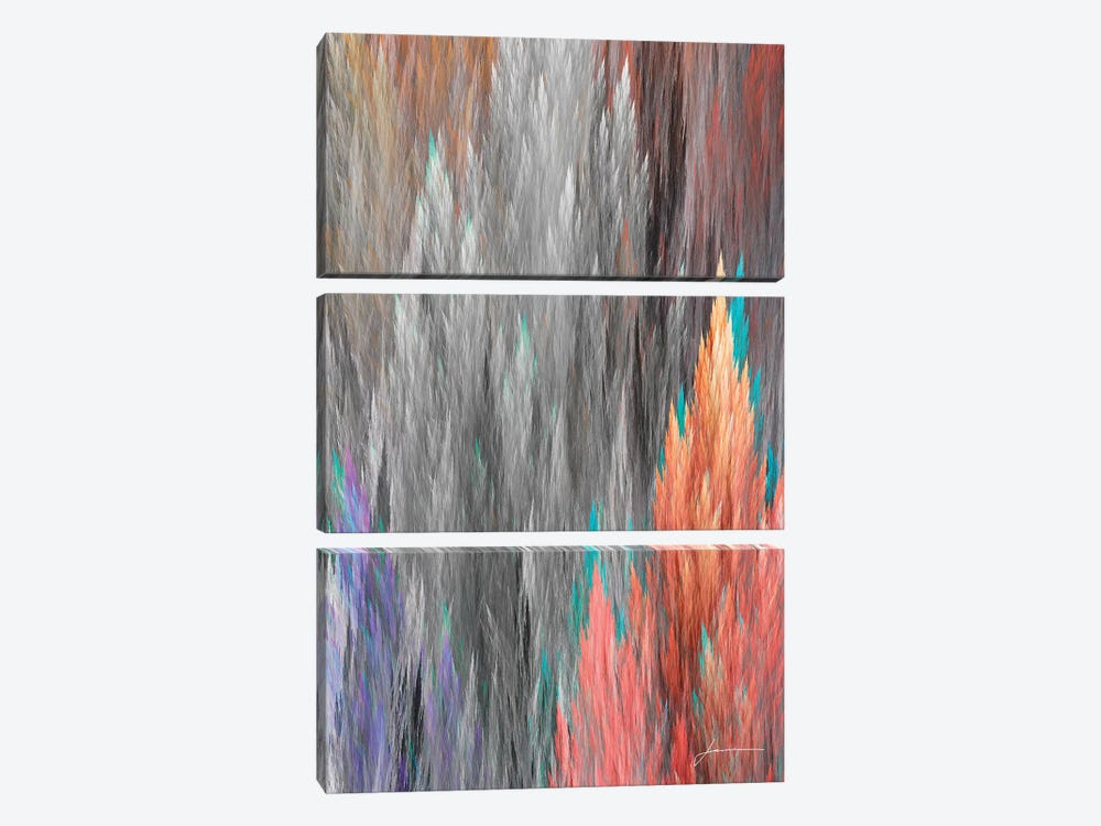 Brush Panels II by James Burghardt 3-piece Canvas Wall Art