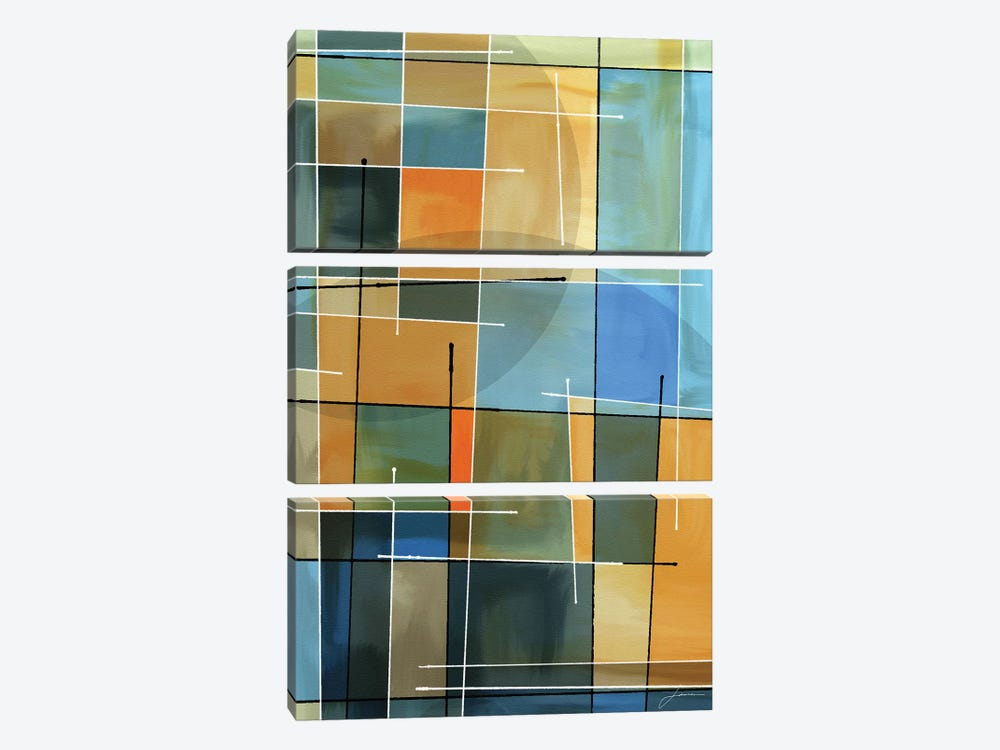 Counter Balance II by James Burghardt 3-piece Canvas Art