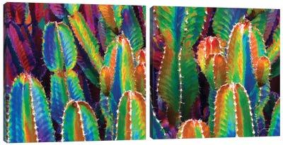 Neon Desert Diptych Canvas Art Print