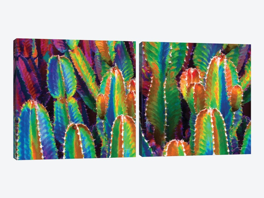 Neon Desert Diptych by James Burghardt 2-piece Canvas Wall Art