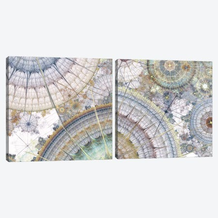Clockworks Diptych I Canvas Print Set #BRG2HSET002} by James Burghardt Canvas Wall Art