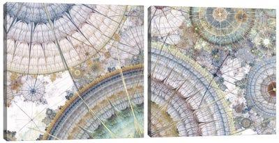 Clockworks Diptych I Canvas Art Print