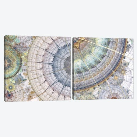 Clockworks Diptych II Canvas Print Set #BRG2HSET003} by James Burghardt Canvas Wall Art