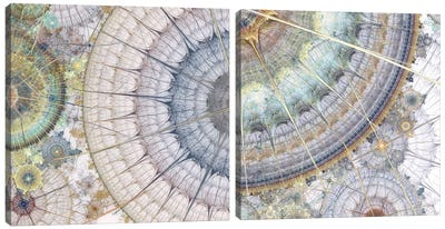 Clockworks Diptych II Canvas Art Print
