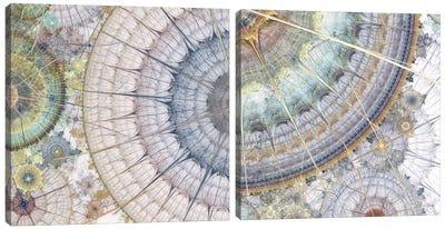 Clockworks Diptych II Canvas Art Print