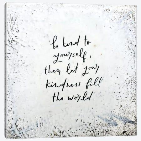 Be Kind Canvas Print #BRH22} by Britt Hallowell Art Print