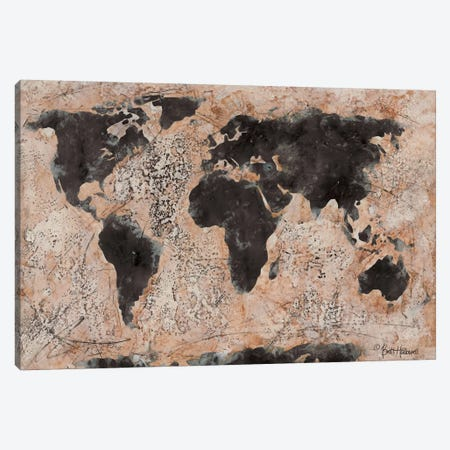 Old World Map Canvas Print #BRH2} by Britt Hallowell Canvas Wall Art