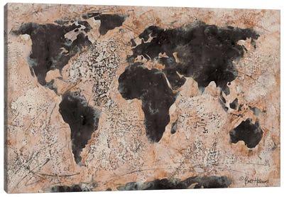 Old World Map Canvas Art Print