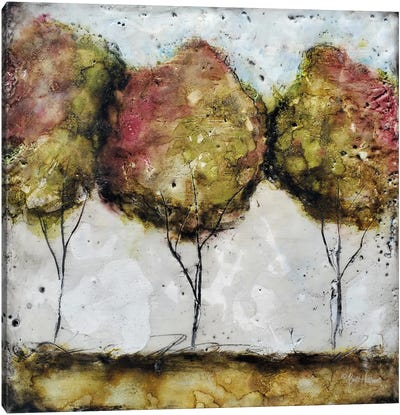 A Fall Stroll Canvas Art Print
