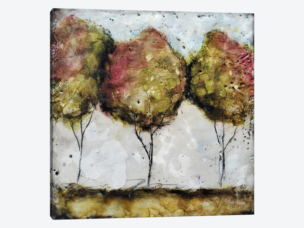 A Fall Stroll by Britt Hallowell 1-piece Canvas Print
