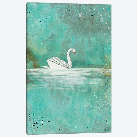 Serenity Lake Canvas Print #BRH3} by Britt Hallowell Canvas Wall Art