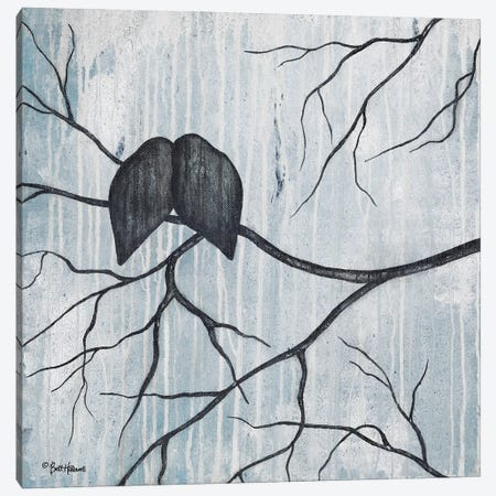 Remnant Of Rain Canvas Print #BRH61} by Britt Hallowell Art Print