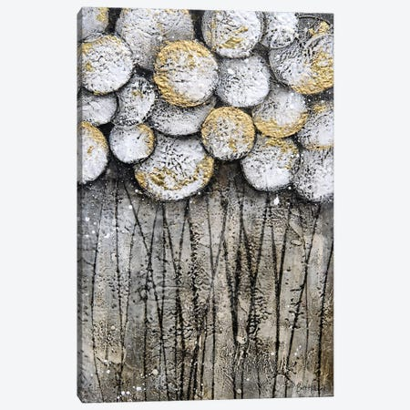 Bubble Trees in White Canvas Print #BRH9} by Britt Hallowell Canvas Art